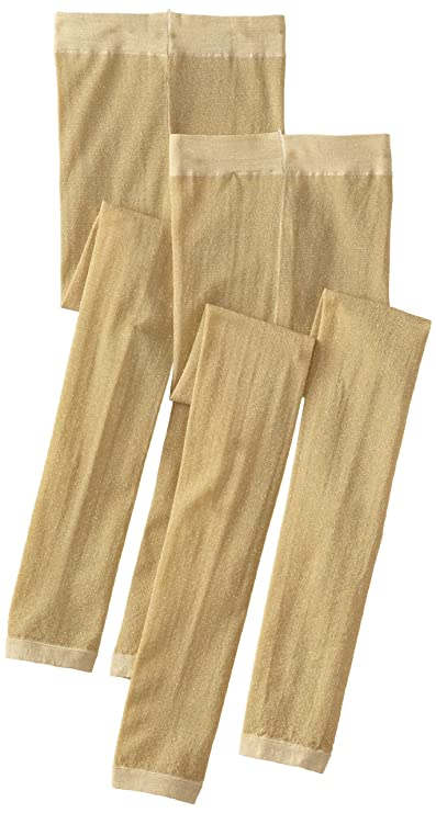 f85c964bde2ab Amazon.com: Country Kids Little Girls' Sparkly Footless Tights 2 Pair: Country  Kids Sparkly Gold Tights: Clothing
