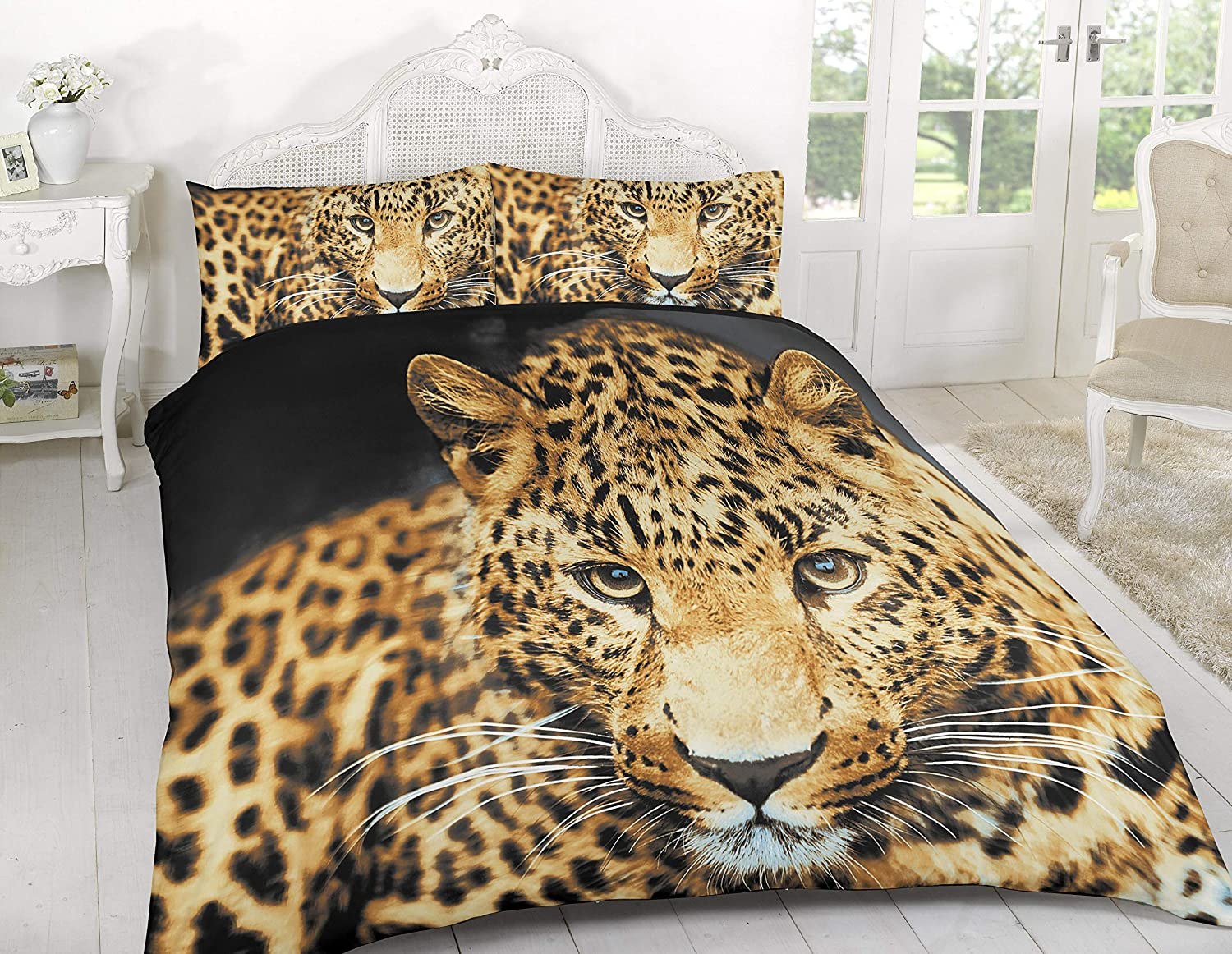 NEW 3D EFFECT DESIGN DUVET SETS QUILTY COVER BEDDING WITH PILLOW CASES