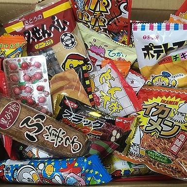 Dagashi Box Snacks japoneses 60pcs Umaibo Candy Gumi patata Chip ...