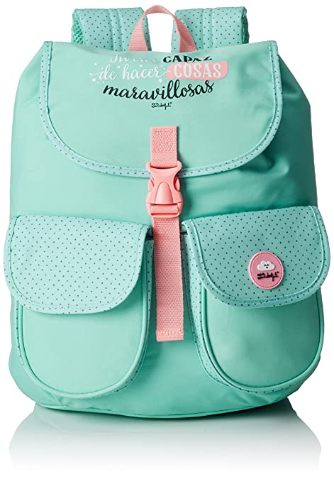 Mr. Wonderful Mochila Tipo Casual con Espalda Acolchada, 15 litros, Color Verde: Amazon.es: Zapatos y complementos
