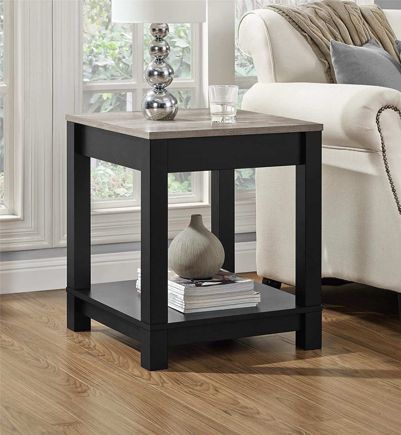 Amazon Ameriwood Home Carver End Table Black Kitchen & Dining