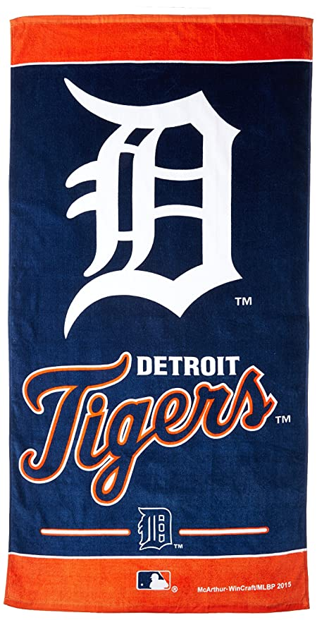 MLB Detroit Tigers Beach Towel, Team Color, One Size
