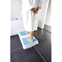 Premium Badewannen / Dusche Einstieg Hilfe Treppe Stufe Senioren - stapelbar - Anti Rutsch Beschichtung