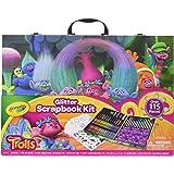 Crayola; Trolls Glitter Scrapbook Kit; Art Tools for Scrapbooking Activities; Over 115 Pieces; Great Gift