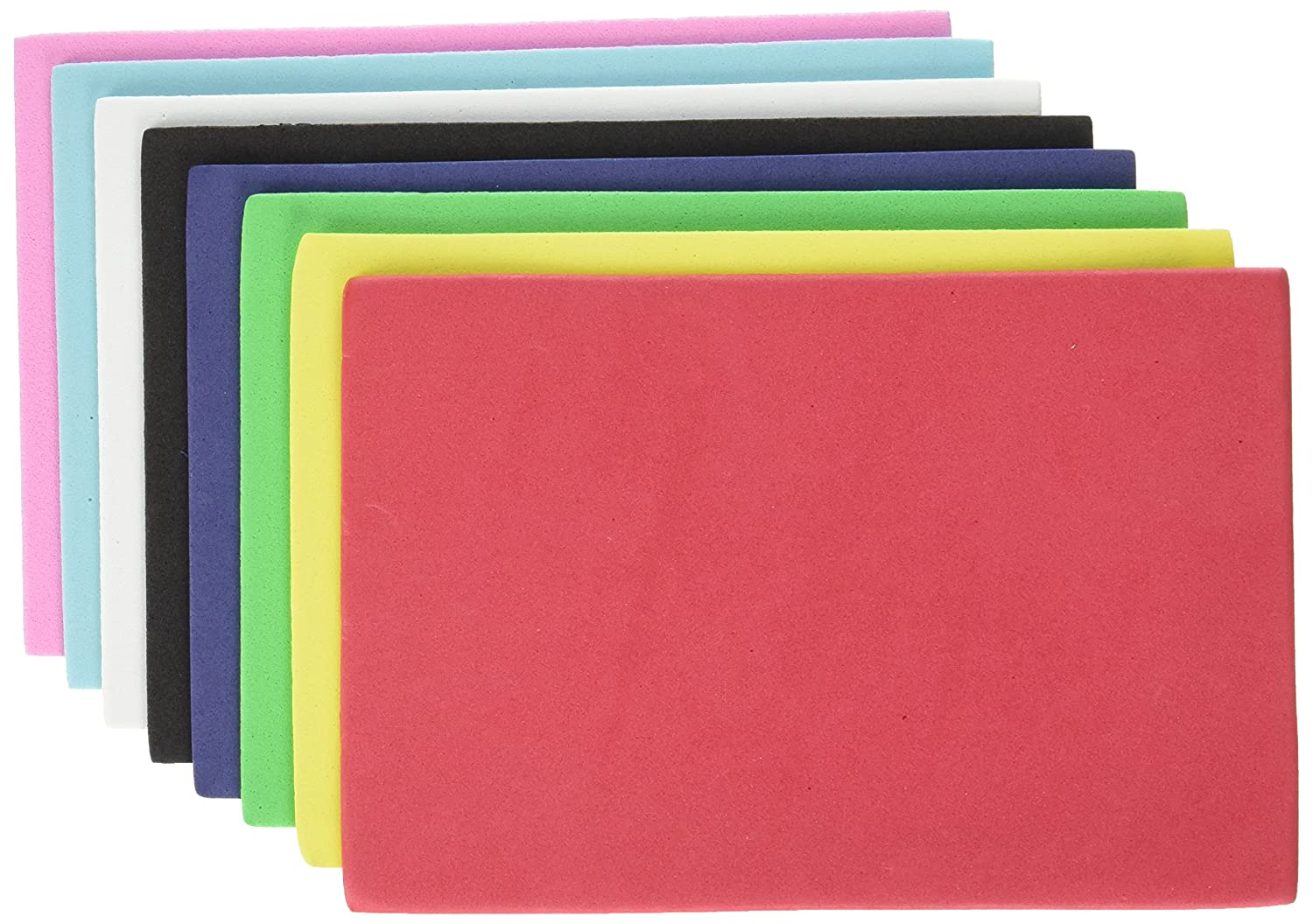 Multicraft Imports GC044A Foam Sheets 1.5mm 4X6 30//Pkg-Primary Assortment