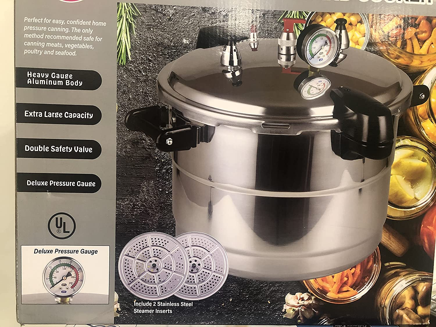 Kitchen & Dining Cookware included with 2 Stainless Steel Steamers ...