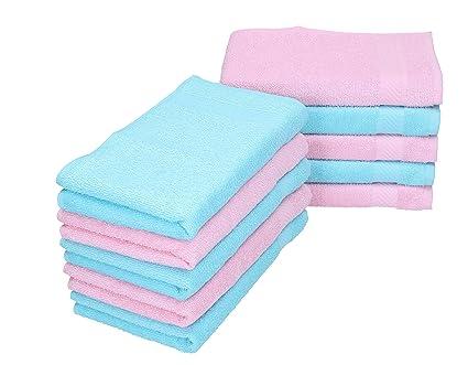 BETZ Paquete de 10 Piezas Toalla Facial Palermo tamaño 30x30cm 100% algodón de Color Rosa