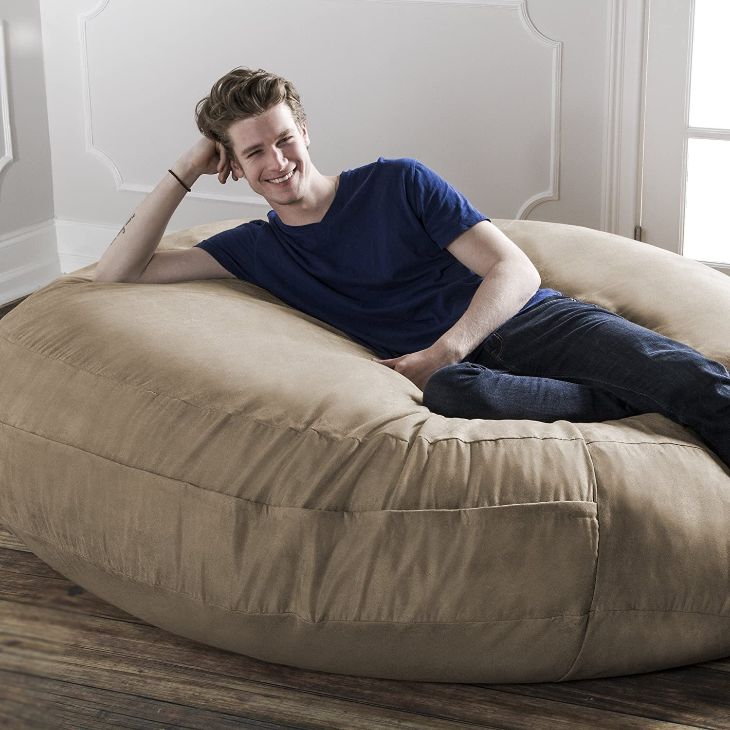 Amazon Jaxx 6 Foot Cocoon Bean Bag Chair for Adults