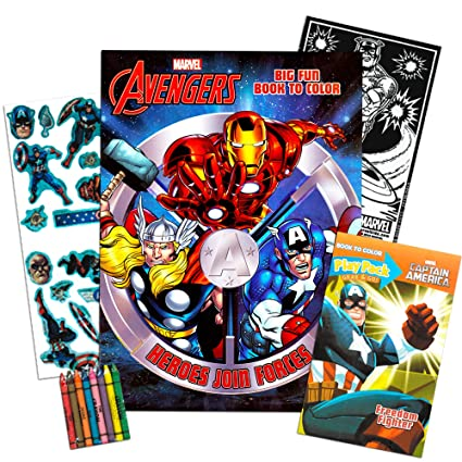 Amazon.com: Marvel Avengers libro para colorear y Vengadores ...
