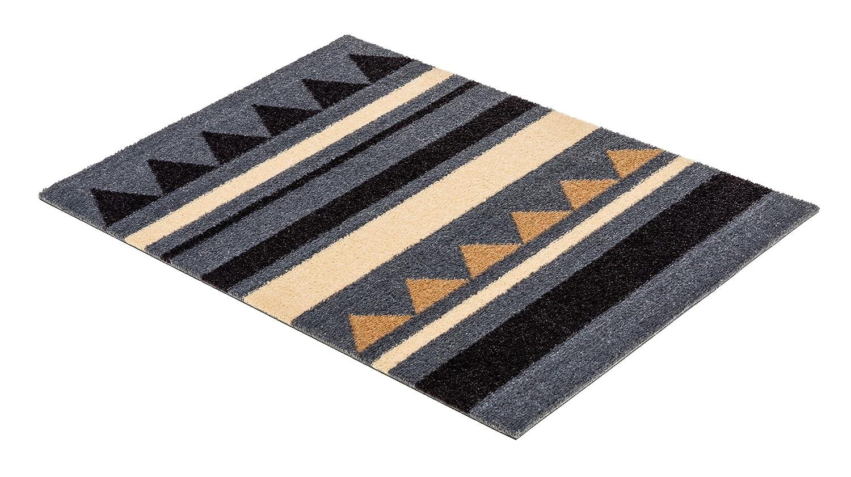 Miabella Schmutzfangmatte 1669 714 040 Streifen grau braun in 3 Gr/ö/ßen 50 x 70 cm