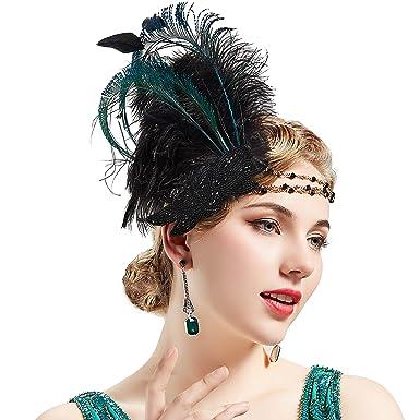 Coucoland 1920s Stirnband Feder Damen 20er Jahre Stil Charleston
