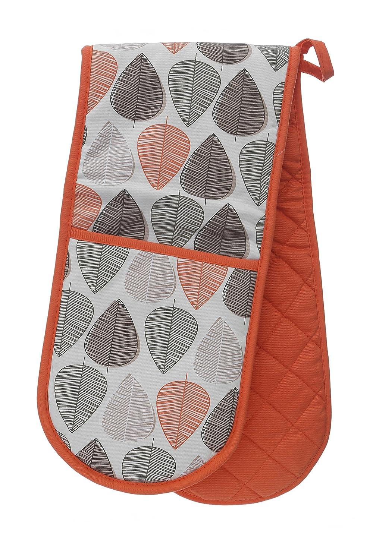 Orange Premier Housewares Leaf Double Oven Glove