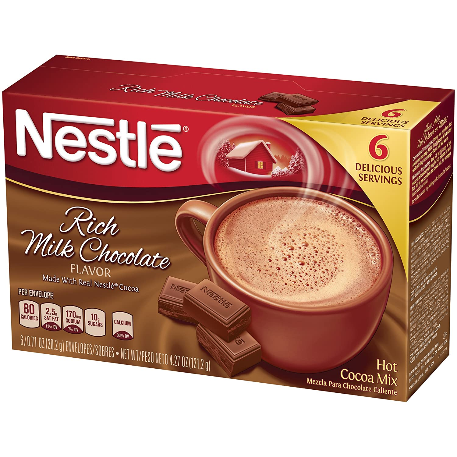 Nestle Hot Cocoa Rich Milk Chocolate Mix, 4.27 Ounce