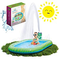 Amazon.com deals on Splashin Kids 3 in 1 Inflatable Sprinkler Pool for Kids