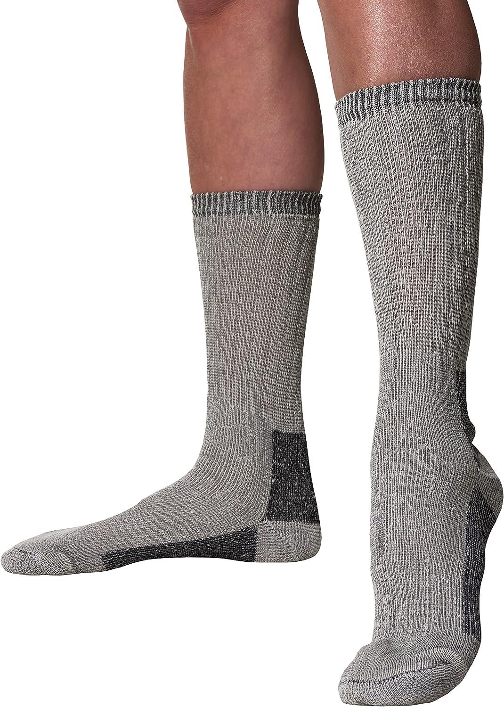 Gray 6 Pairs of Womens Merino Wool Socks Comfort Blend Lightweight Hiking Trail Bulk Pack