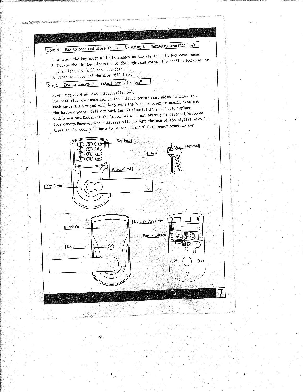 Amazon.com: Electrónica sin llave cerradura de puerta Set - níquel satinado (Para Haga bisagras Sólo Puertas): Electronics