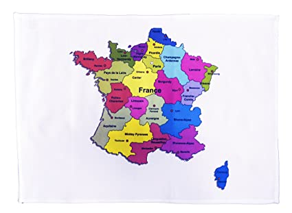 Map Of France Regions With Cities.Half A Donkey Colourful Map Of France Showing The Regions And Major