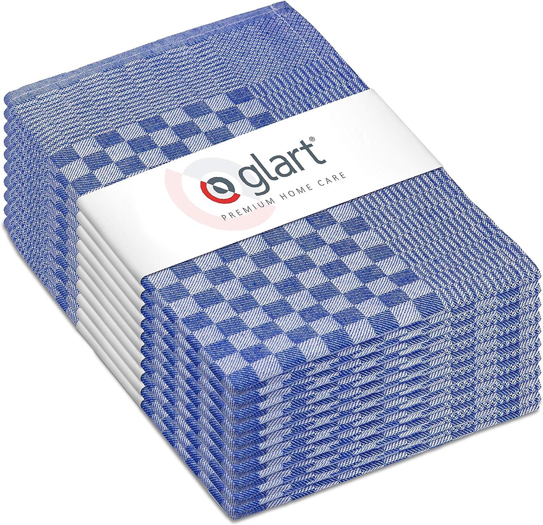 Glart Pack de pa/ños Algod/ón Talla /única 10 Azul//Blanco