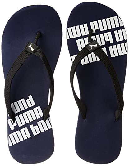 2422064e57c52 Puma Men s Issac NG DP Navy Blue and Black Flip Flops Thong Sandals - 10 UK