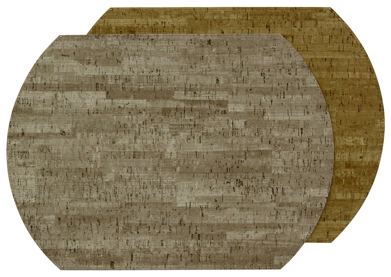 カレンLee Ballardコルク – Mercury /砂、リバーシブルビニールプレースマット/ 4のセット   B01FUYZ13G