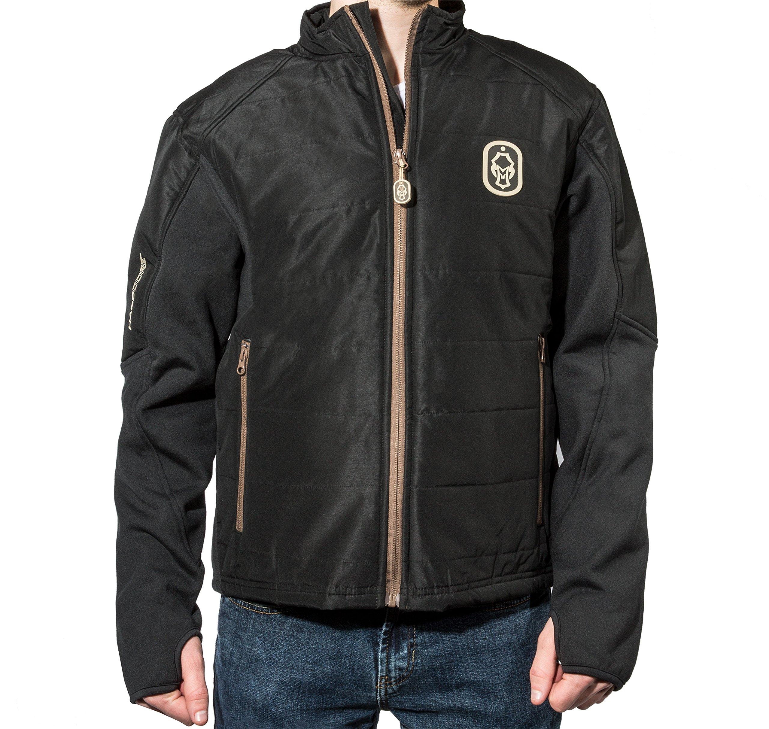 Hard Core Brands Finisher Hybrid Puff Jacket (Black, XX-Large) by Scent-Lok (Image #1)