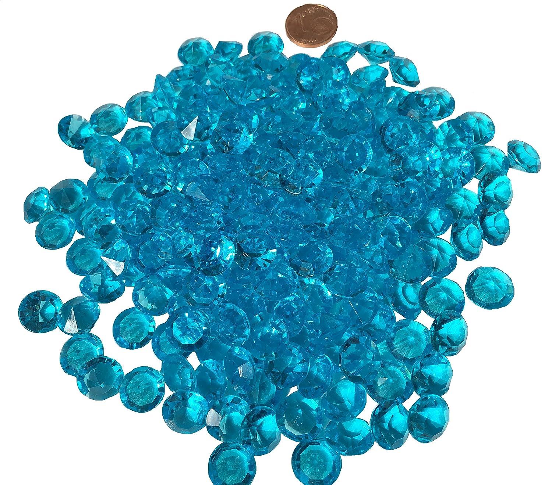 200pezzi 11mm glitzernde Blu Azzurro Deko diamanti brillianten strass pietre in acrilico trasparente cristallo basteln gltzer pietre gioielli pietre Strass per decorare von Crystal King