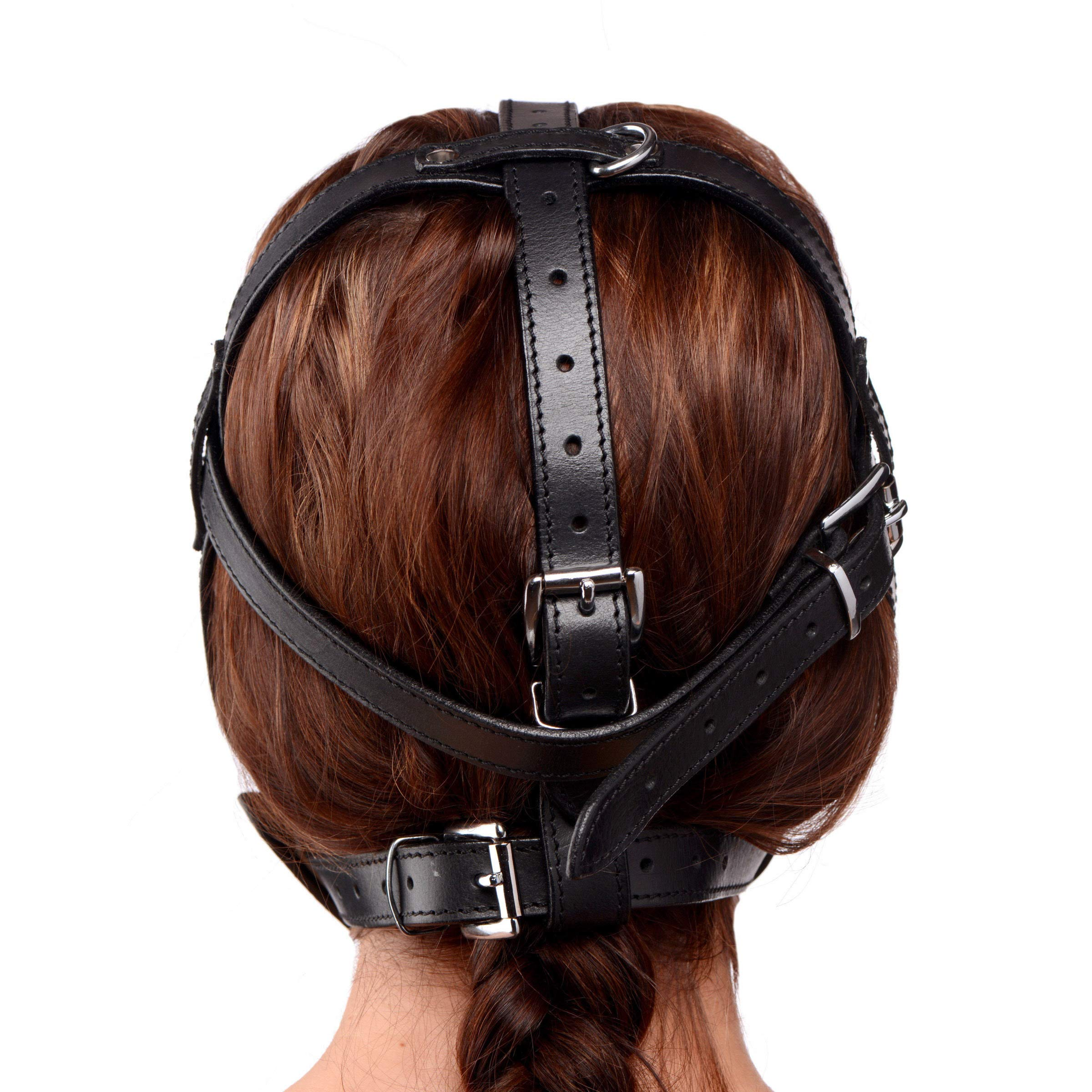 Strict Leather Plug It Up Head Harness with Mouth Gag by Strict Leather
