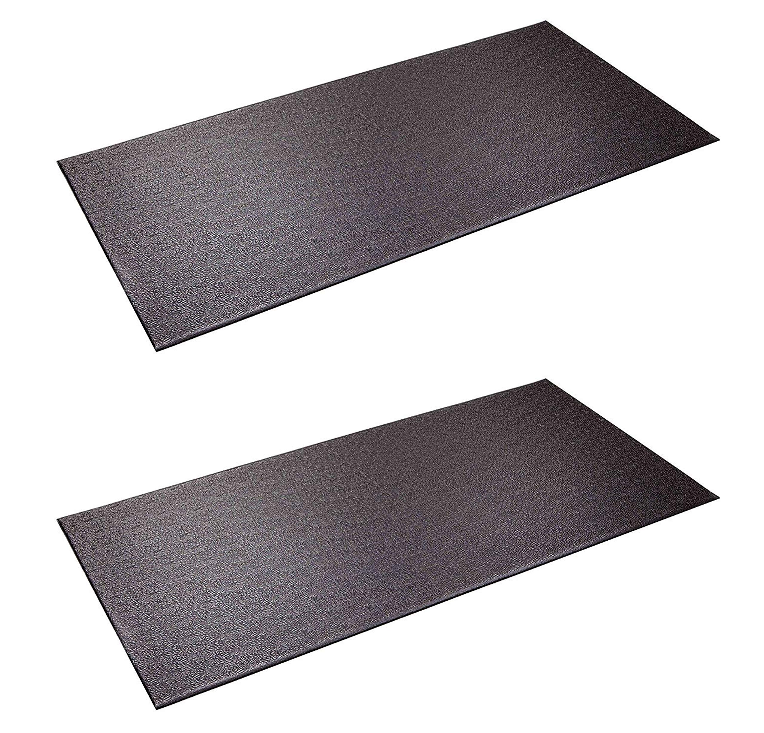 SuperMats Heavy Duty Equipment Mat 13GS Made in U.S.A. for Indoor Cycles Recumbent Bikes Upright Exercise Bikes and Steppers (2.5 Feet x 5 Feet) (30-Inch x 60-Inch) (Two Pack) by SuperMats