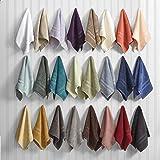 12 Serviettes de bain carrée 30x30 cm, 100 % COTON style nid d'abeille et couleurs assorties