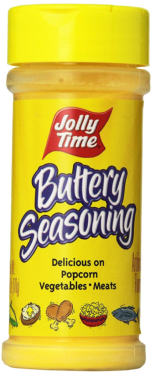 Amazon Com Jolly Time Buttery Popcorn Seasoning Movie Theatre Popcorn Salt Powder 6 Ounce Jars Pack Of 12 Spices And Seasonings Grocery Gourmet Food
