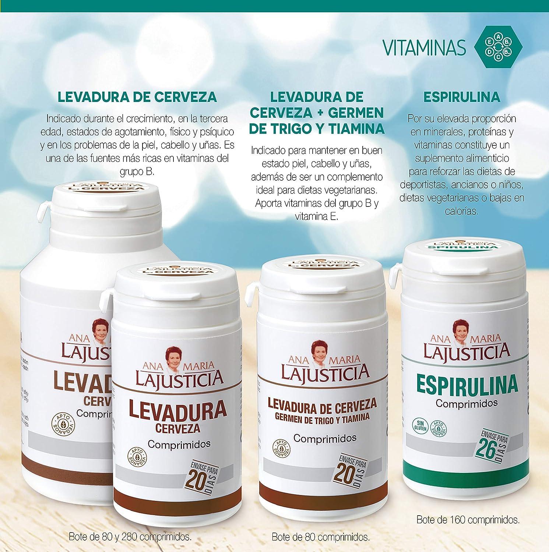 Ana Maria Lajusticia - Espirulina – 160 comprimidos fuente de ...
