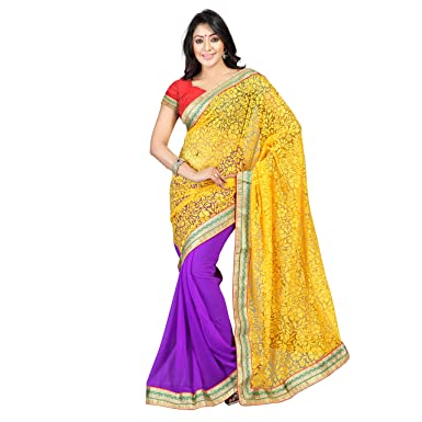 6bc9b6835b Florence Women's Brasso Saree (FL-10408): Amazon.in: Clothing & Accessories
