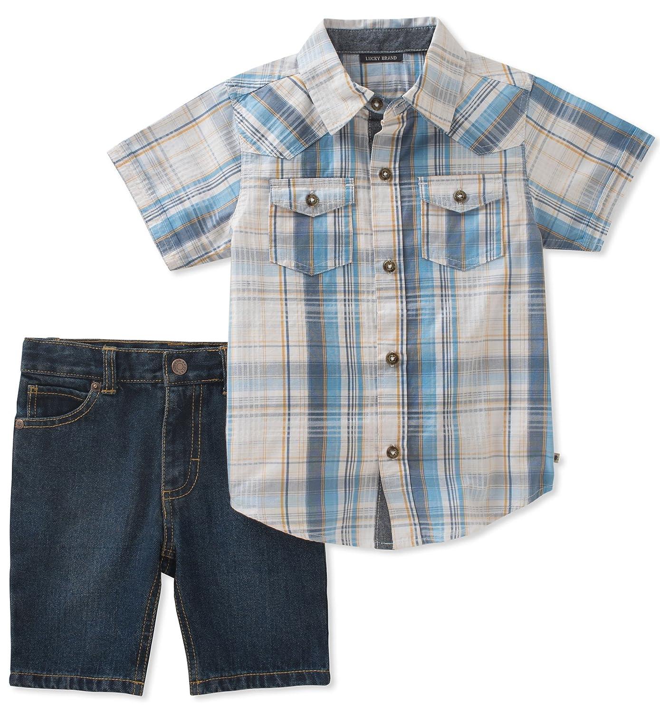Lucky Brand Boys Shirt Shorts Set