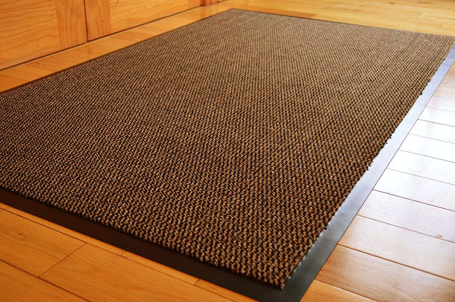 AHOC BARRIER MAT LARGE BROWN/BLACK DOOR MAT RUBBER BACKED MEDIUM RUNNER BARRIER MATS RUG PVC EDGED KITCHEN MAT(90 X 150 CM) Others