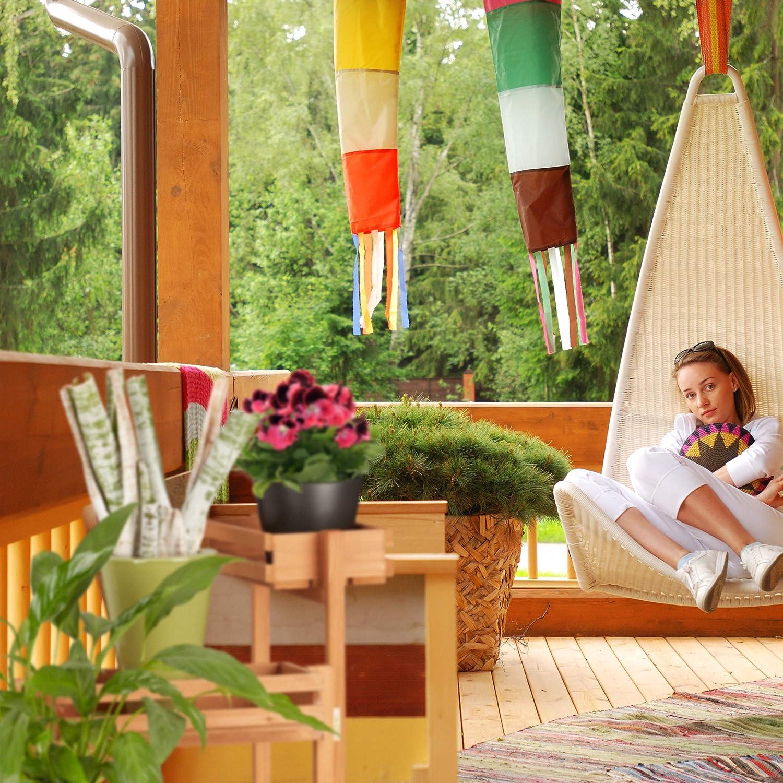Relaxdays Soporte Plantas Escalera 3 Niveles, Madera, Beige, 57 x 78 x 56 cm: Amazon.es: Jardín