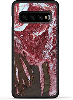 product image for Carved - Wood+Resin Case for Galaxy S10 - One-of-A-Kind, Protective Traveler Bumper Cover (ID: 328792, Red & White)