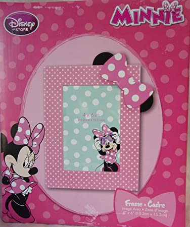 Amazon.com : Disney Store / Minnie Mouse Pink Polka DOT Photo ...