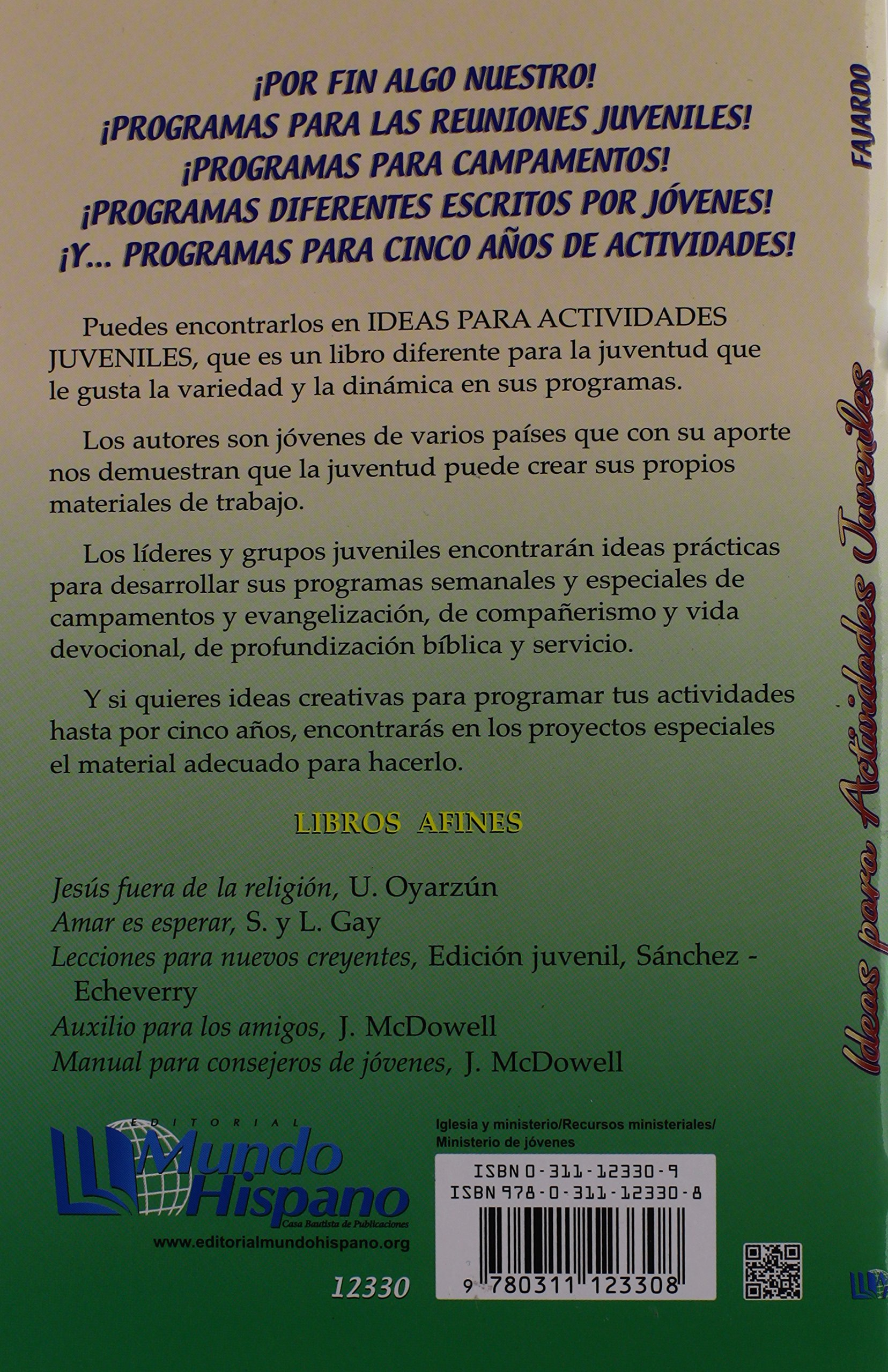 Ideas Para Actividades Juveniles (Spanish Edition): David Fajardo: 9780311123308: Amazon.com: Books