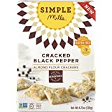 Simple Mills Cracked Black Pepper Almond Flour Snack Crackers, Gluten Free, Natural 4.25 ounce (Pack of 3)
