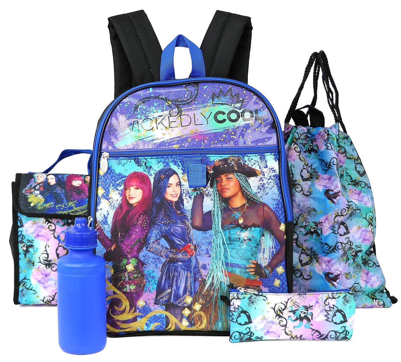 blueee Disney Descendants 5 Pc Set Backpack