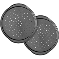 Wilton Perfect Results Non-Stick 14-Inch Pizza Pans with Holes, Multipack Set of 2