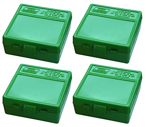 MTM 100 Round Flip-Top 380/9MM Cal Ammo Box (4 Pack)