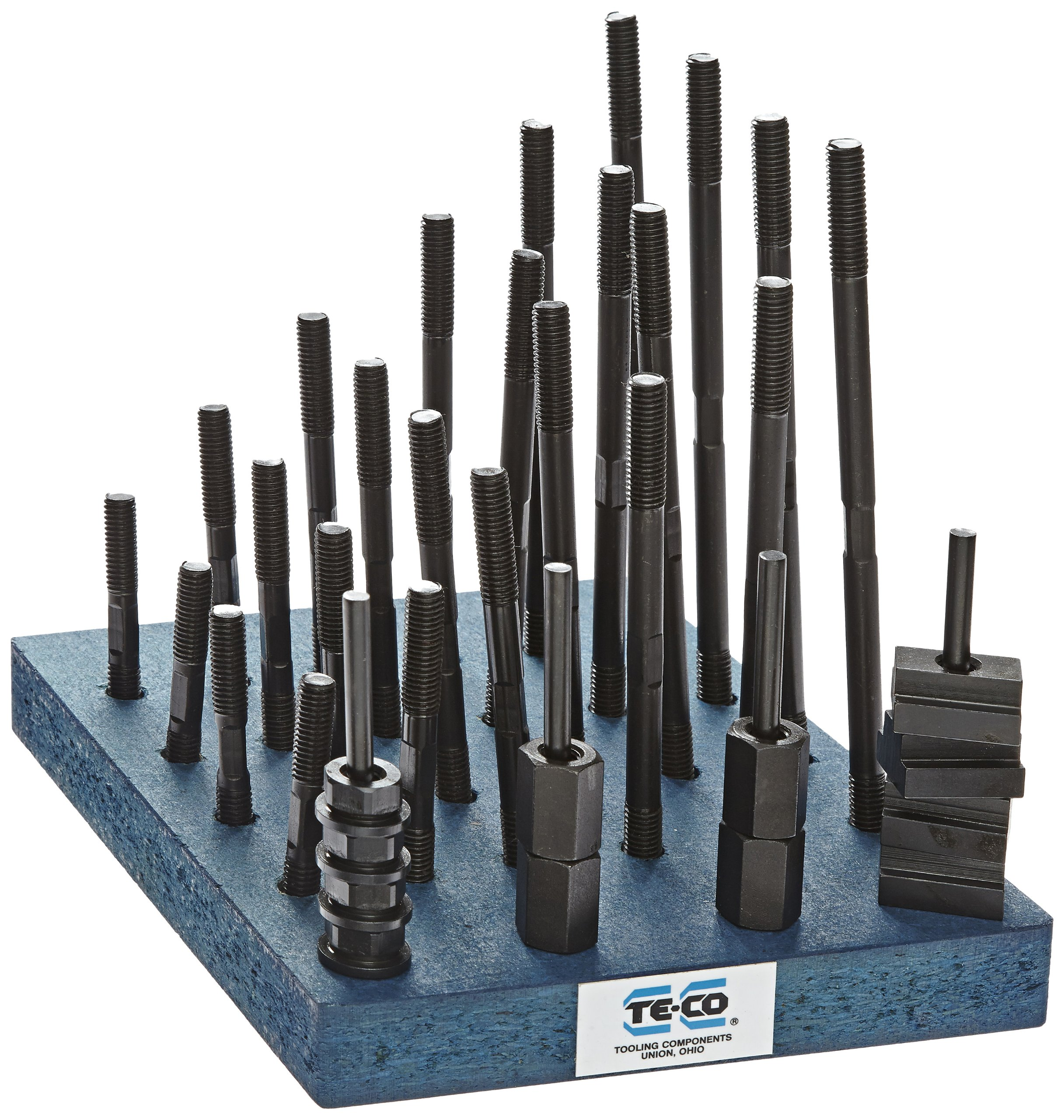 Te-Co 20604 38 Piece T-Nut and Stud Kit, 3/8''-16 Stud x 9/16'' Table T-Slot by Small Parts