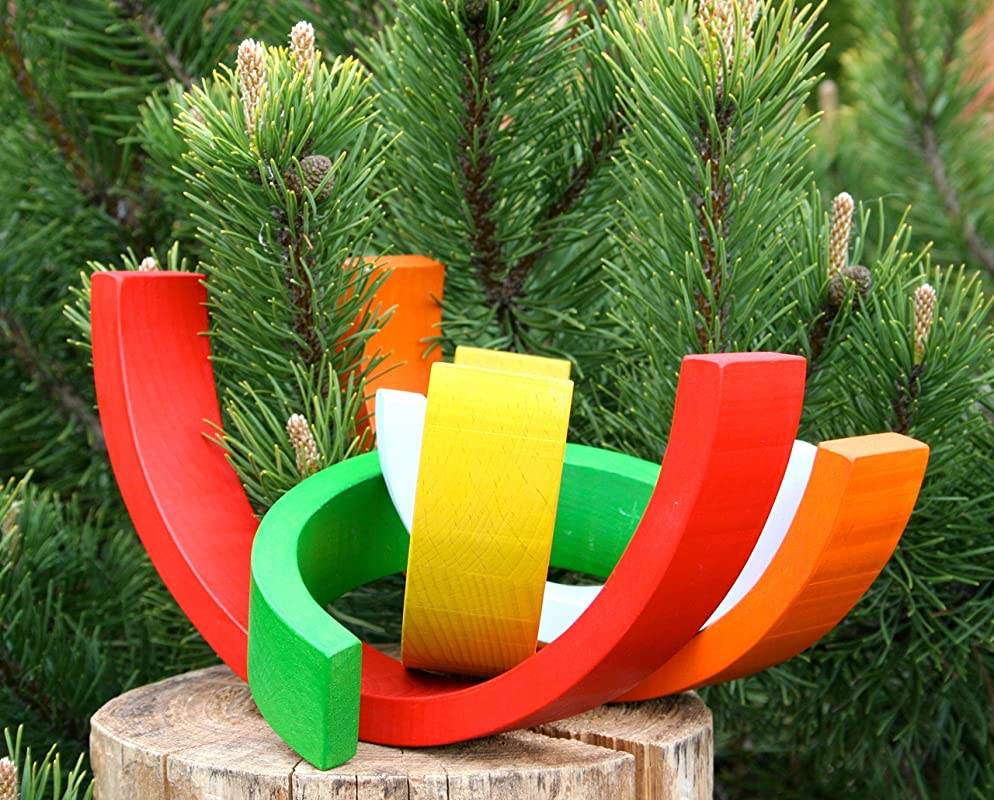 Waldorf Stacking Toy 5.1 Montessori Rainbow 10.2 1.57 Wooden Rainbow Stacker