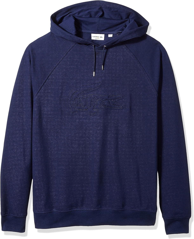 Image of Active Sweatshirts Lacoste Men's Long Sleeve Embroidered Hoodie Sweatshirt, SH6781