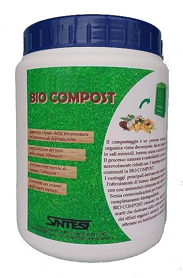 Bio Compost Gr.800 Activador biológico compostaje doméstico: Amazon.es: Jardín