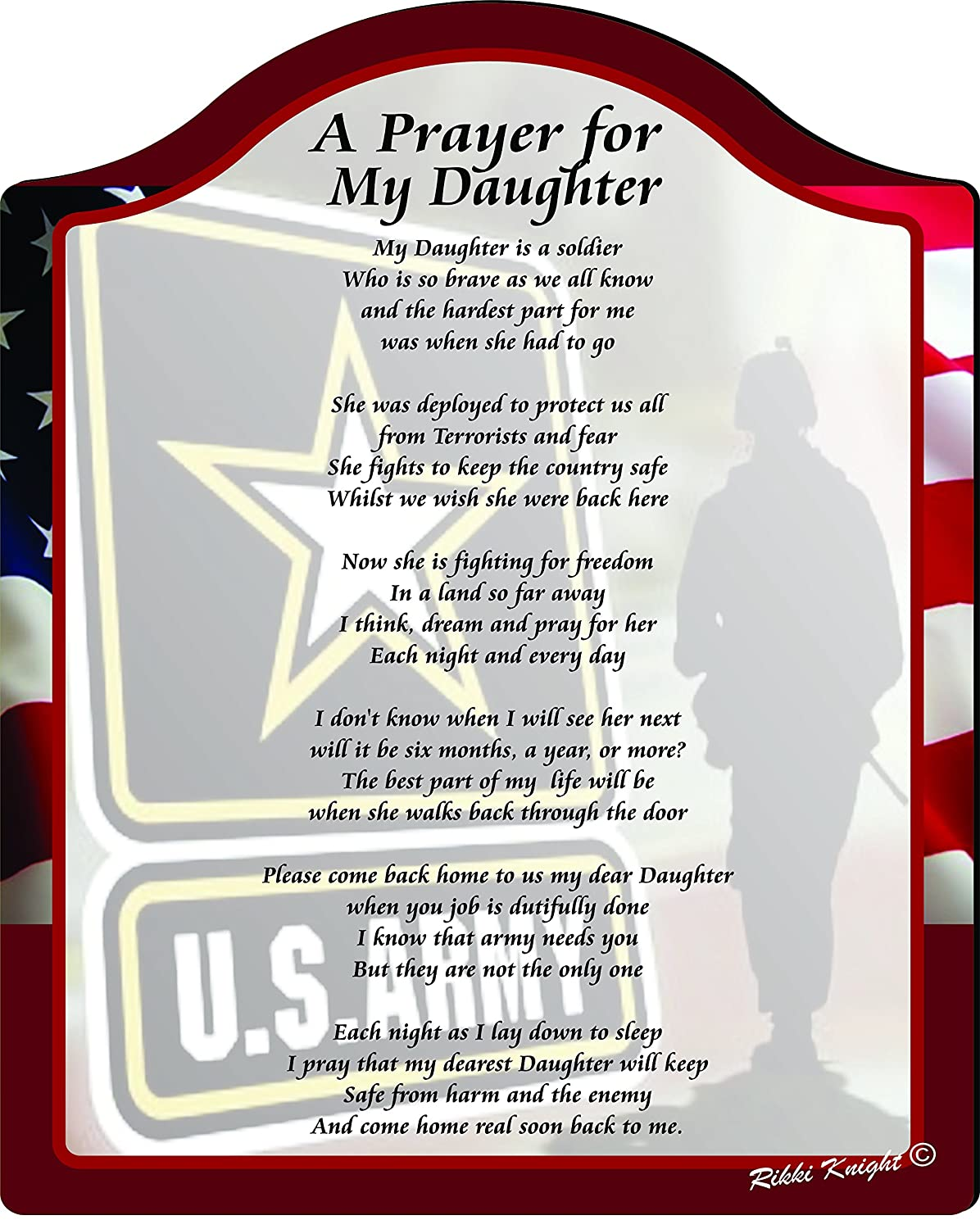 Amazon.com: A Prayer for my daughter the Soldier (US Army ...