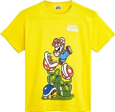 Super Mario Camiseta Niño, Ropa Niño Algodón 100%, Camisetas de Manga Corta con Personaje Mario Bros, Merchandising Oficial Regalos para Niños y Adolescentes Edad 5-12 Años: Amazon.es: Ropa y accesorios