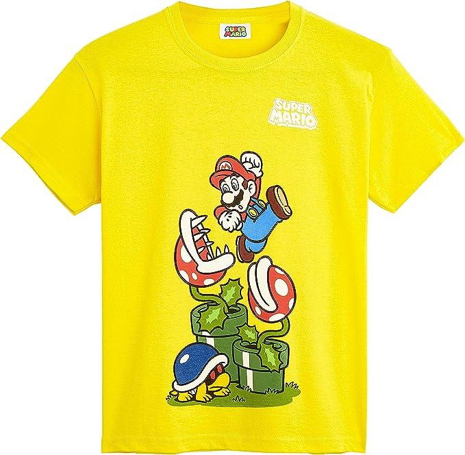 Super Mario Camiseta Niño, Ropa Niño Algodón 100%, Camisetas de ...
