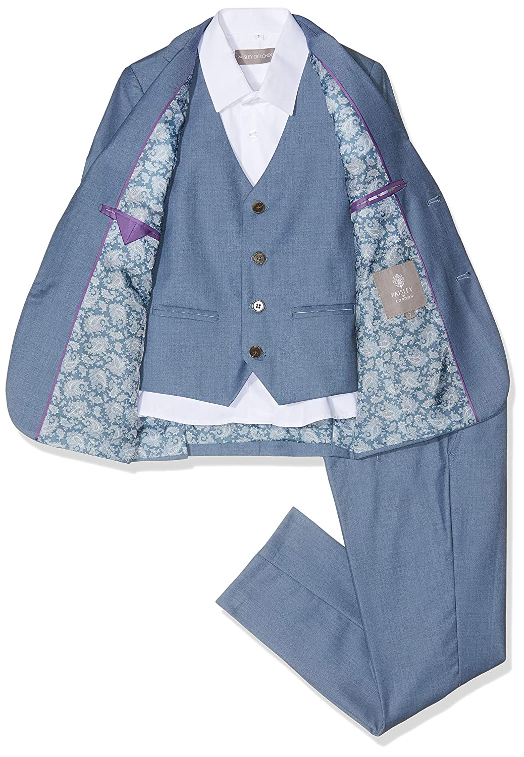 2 Years Boys Wedding Suits Paisley of London Chambray Suit Page Boy Suits Boys Blue Suit